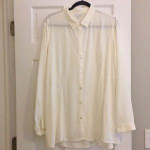JJill Long Sleeve Button Down Tunic